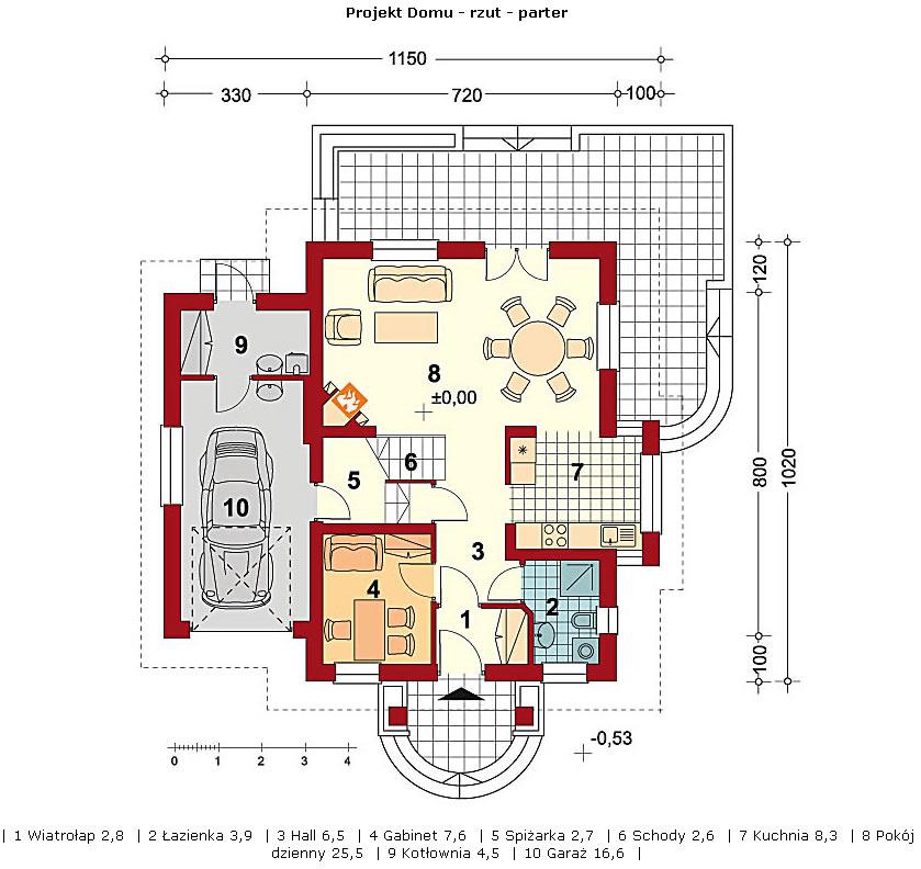 Dom w Morelach - parter