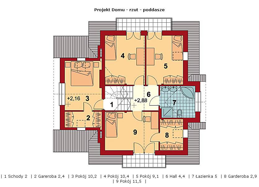 Dom w Morelach - poddasze